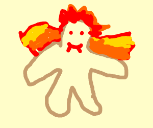 a demon ginger bread man