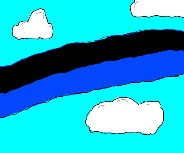 Black and blue rainbow
