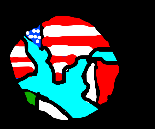 The earth with the usa and mexico