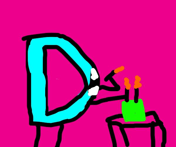 Drawception eats candles