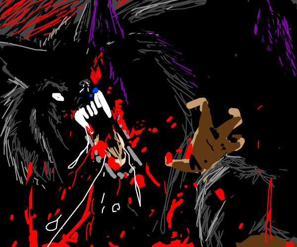 big built wolf chomps u