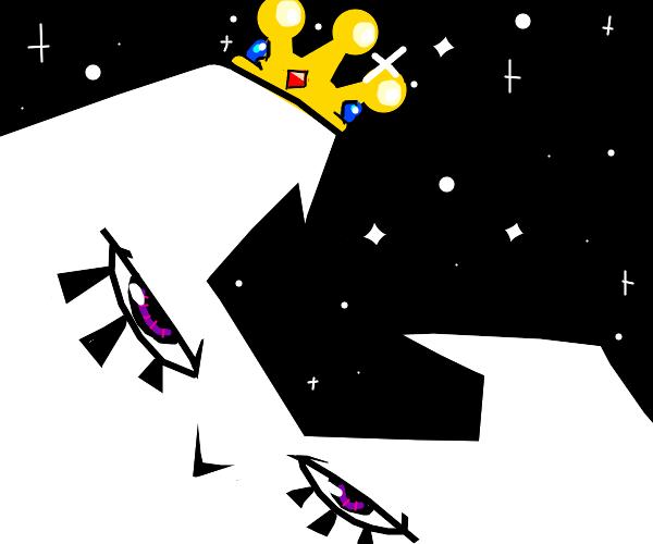 Moon wearing a crown