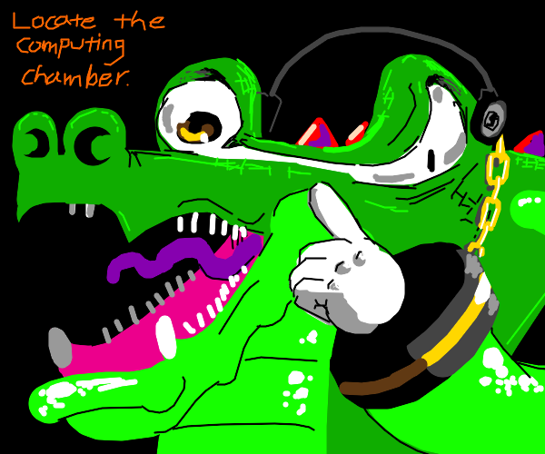 Vector the Crocodile from Team Chaotix!