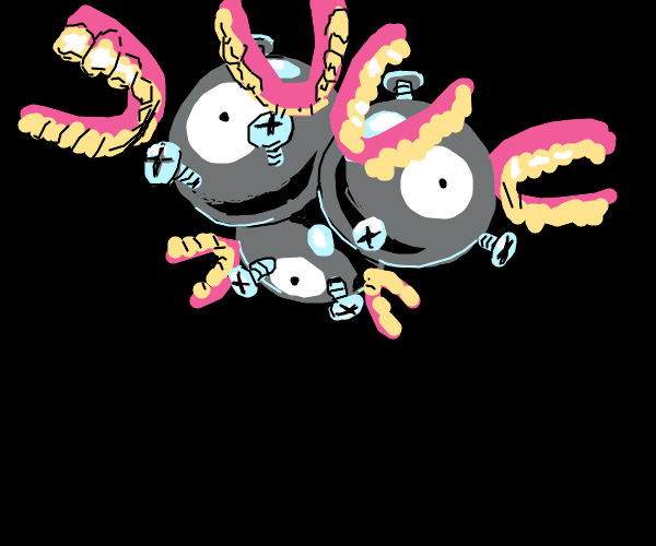 Magneton but has dentures instead of magnets