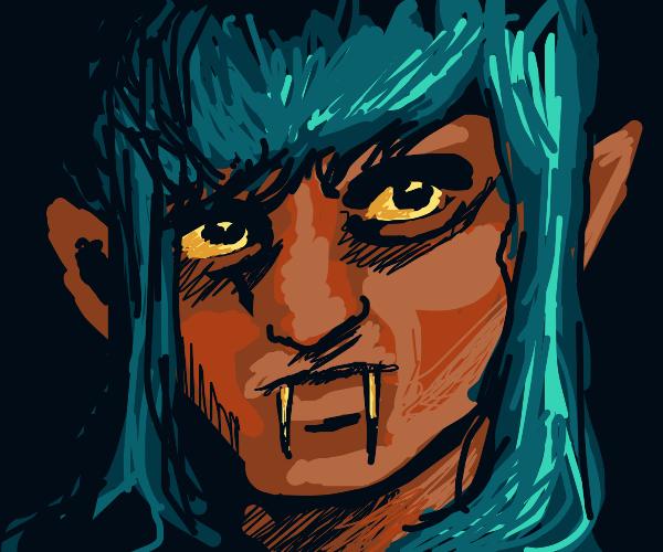 blue haired vampire