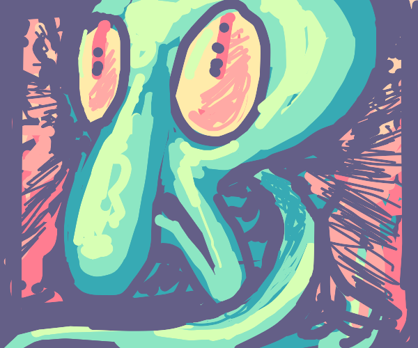 abstract squidward looks disgusted