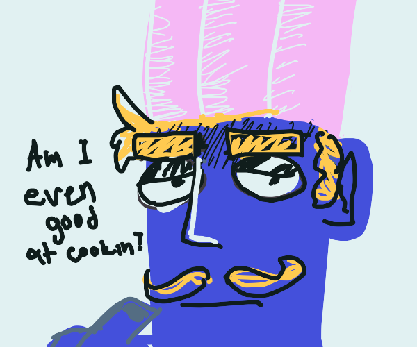 Blue chef ponders bout itself