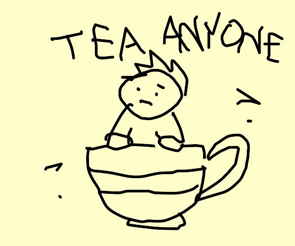 Man in a teapot