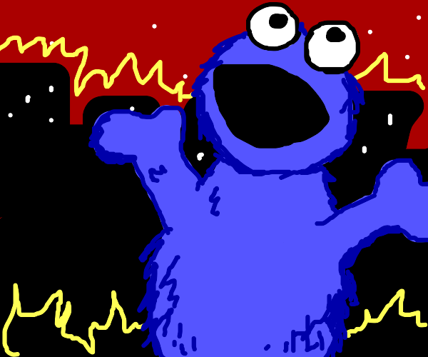 Godzilla Cookie Monster