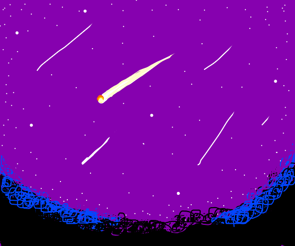 a shooting star drawing