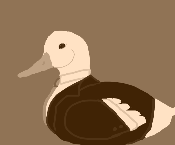 Duck in a suit