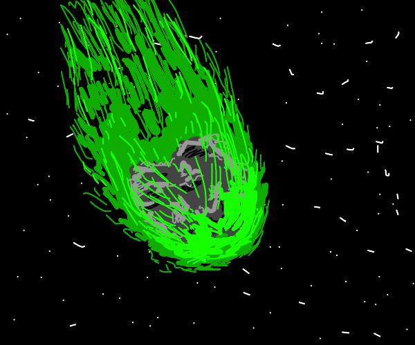 deadly dinosaur-era radioactive meteor