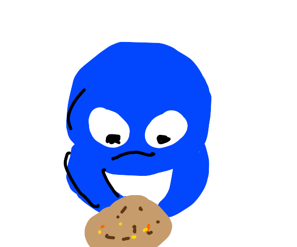 Beetle eats cookie