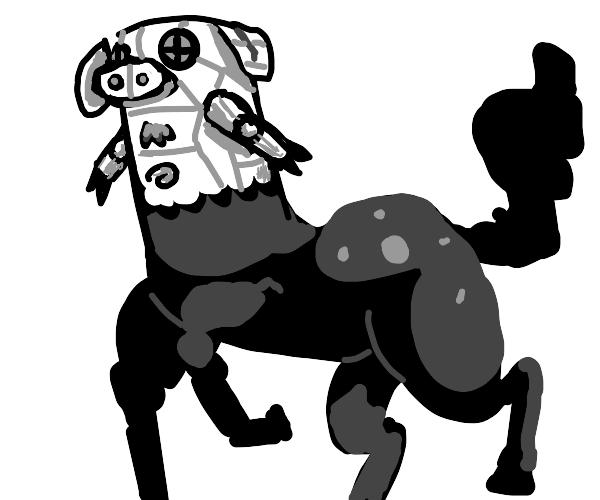 cybernetic pig centaur