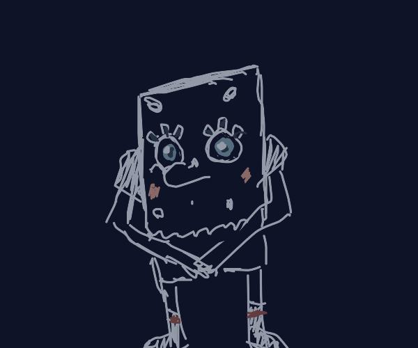 spongebob ripped his pants again