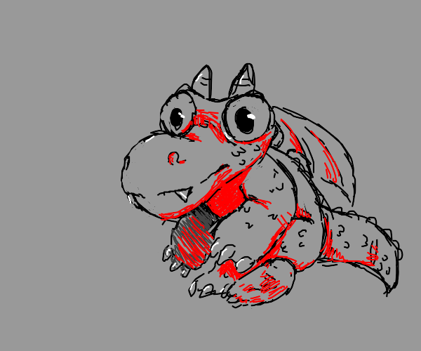 Little Dragon baby with horns