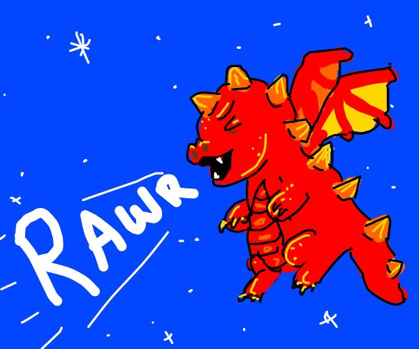 Dragon does a rawr