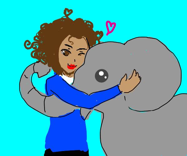 Zoologist Hugging