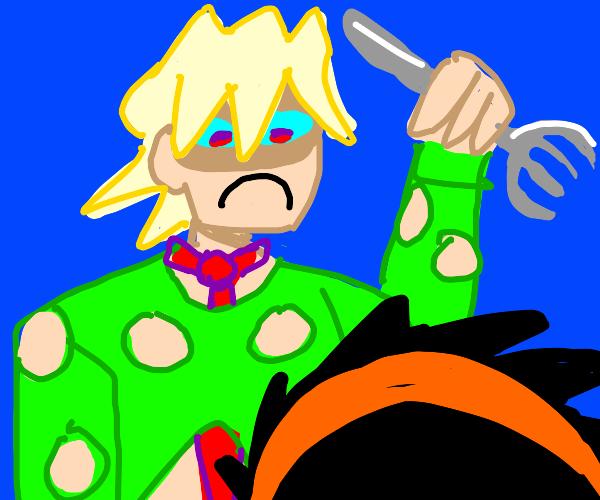 Fugo gonna stab you w/ a fork