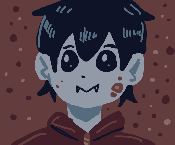 Cute Vampire with mud in their face