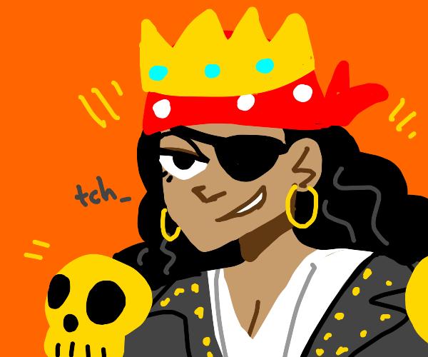 Smug pirate queen