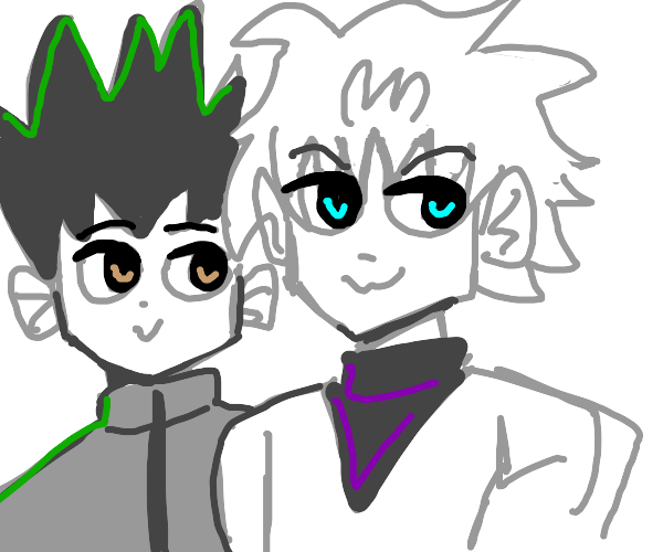 Killua Zoldyck with Gon