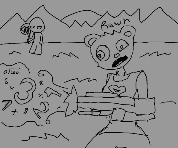 A bear with killer math skills