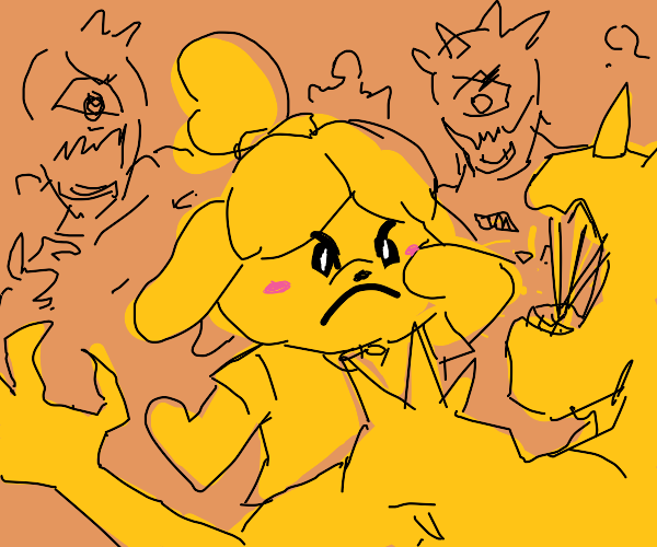 Isabelle banishes demons from her town