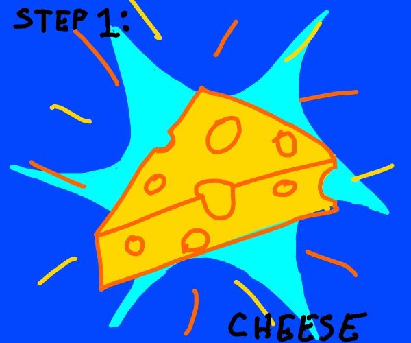 Step 2: Fling the intergalactic cheese