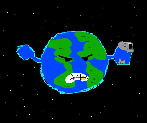 Gansgta Planet Earth (Literal thug life)