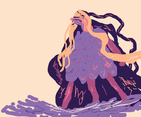 Bird with long hair