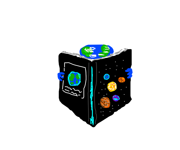Earth reading book on planets