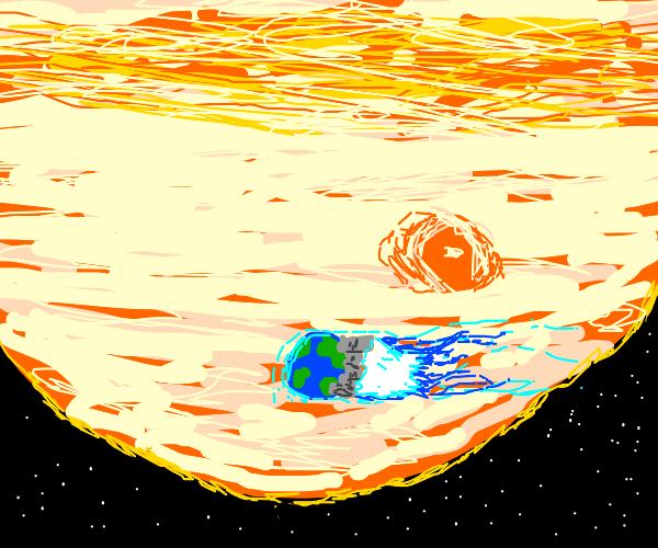 Earth misses Jupiter