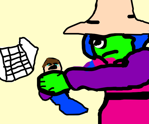 cyclops witch strangles baby