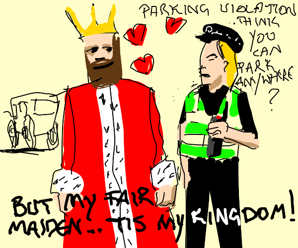 king falls in love with police officer