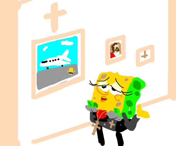 Spongebob is a televangelist