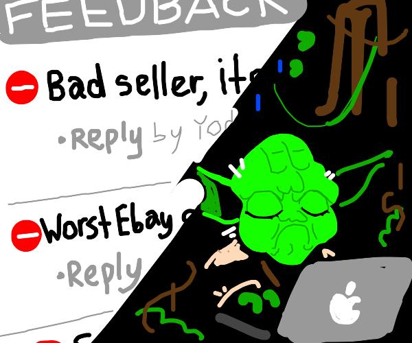 Yoda gets bad feedback from eBay seller
