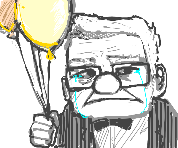 Carl from UP is crying with balloon