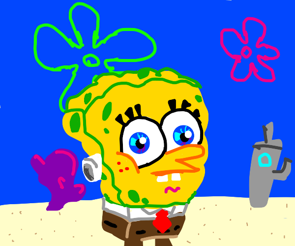 spongebob, no arms