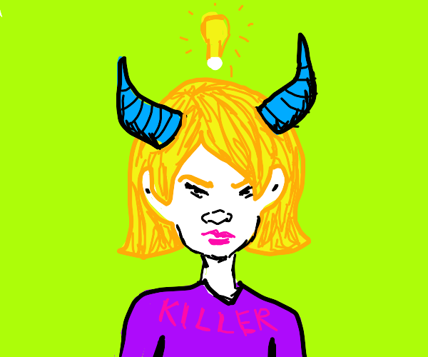 Horned lady is ready to kill more people