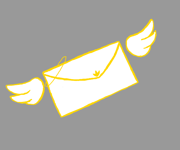 An angel envelope