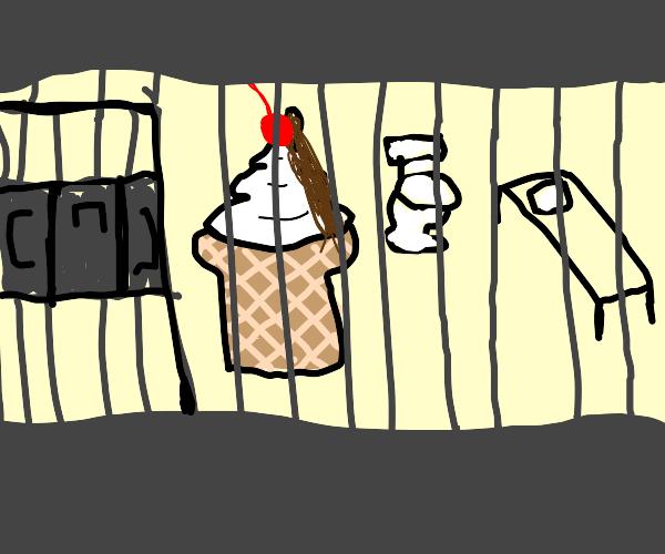 Ice cream in jail