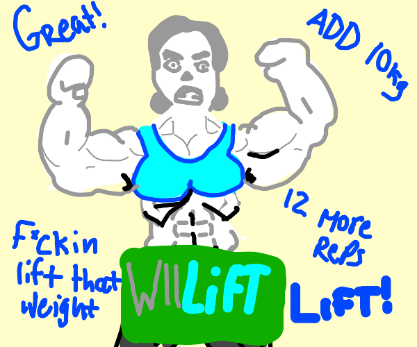 The Wii Fit lady has a six pack