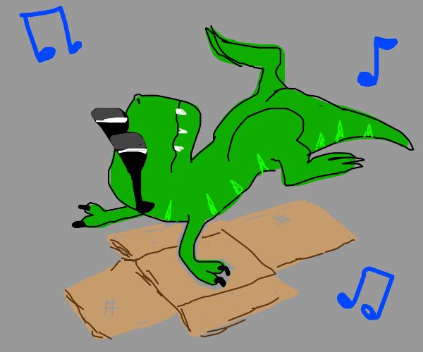 dancing t rex