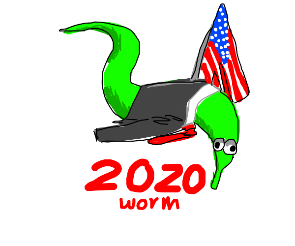 worm on a string for president 2020