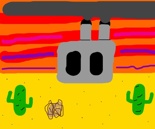 Factory in desert