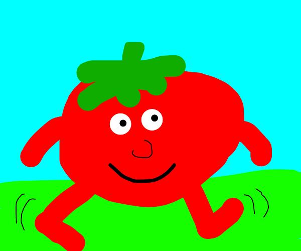 Tomato man he walk