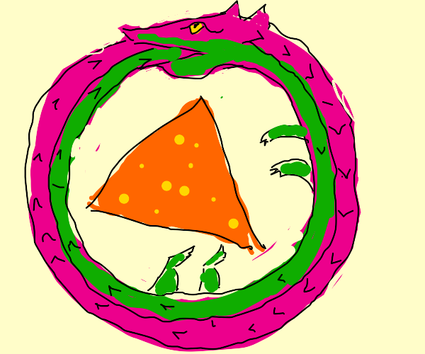 purple and green snake constricts nacho man
