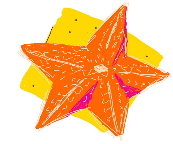 putting a star-fish on a cookie