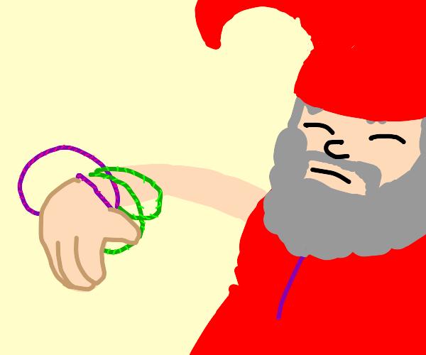Gnome with Hula Hoop Bracelets